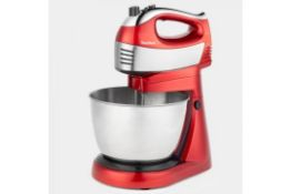 (V38) 400W 2 in 1 Hand & Stand Mixer This 2 in 1 appliance instantly converts from a stable sta...