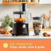 (S57) 1000W Food Processor Chop, blend, mix, purée, grate, shred and knead dough Process big...