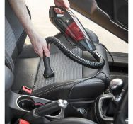 (X33) Car Vacuum 12V Wet & Dry. Compact and lightweight wet & dry handheld car vac with powerfu...