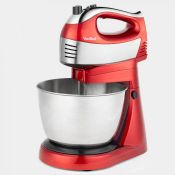 (V38) 400W 2 in 1 Hand & Stand Mixer This 2 in 1 appliance instantly converts from a stable st...