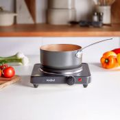 (V102) Single Hot Plate Small, lightweight and easily portable, use the hot plate for cooking ...