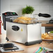 (V182) 3L Deep Fat Fryer Large 3L capacity Deep Fat Fryer from VonShef – perfect for frying ...