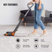 (S96) Grey Cordless Sweeper A compact and lightweight vacuum that delivers excellent performan...