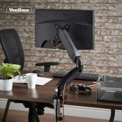 (S106) Single Arm Gas Mount With Clamp Ultra-flexible single monitor mount with built in cable...