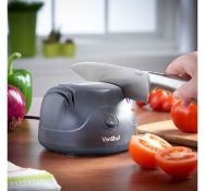 (X35) Electric Knife Sharpener. Two stage sharpening system grinds, hones & defines knives for ...