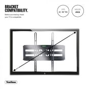 "(V14) 23 - 56"" Double Arm TV Bracket VESA Compatibility: 75x75mm, 100x100mm, 200x200mm, 300x30..."