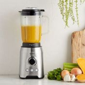 (NN37) 1000W Glass Jug Blender Blend smoothies, crush ice, prepare soups and more with this sl...