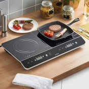 (S35) Twin Digital Induction Hob Compact and portable, the ceramic induction hob from is idea...