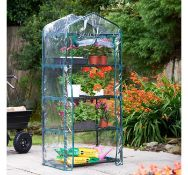 (X45) 4 Tier Mini Greenhouse. keep conditions controlled for your plants, seeds and seedlings w...