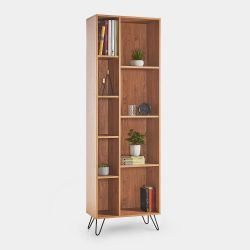(V10) Capri Split Shelving Retro unit with spacious split design shelving, hairpin legs, and m...