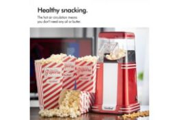 (S54) Retro Popcorn Maker Make healthy, mouth-watering popcorn the retro way! Comes with six c...