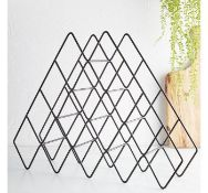 (X21) 15 Bottle Wine Rack. The modern matte black and minimalist geometric design make this win...