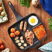 (NN69) Multi Section Frying Pan Cook up a delicious full English breakfast – with the conven...