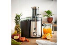 (V118) 800W Stainless Steel Juicer Enjoy delicious juices every day with the large capacity, hi...