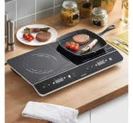 (K1) Twin Digital Induction Hob Boasting a temperature range of 60C - 240C so can be used to p...
