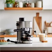 (NN120) 4 Bar Espresso Machine Features include a glass carafe that can hold enough for 4 espr...