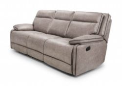 BRAND NEW BOXED CHELTENHAM RECLINING SOFA IN LIGHT GREY