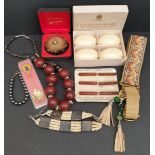 Assorted Collectables Includes Boxed Brooch Bracelets & Vintage Soap