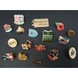 Parcel of 17 Badges and Tie Pins Military & Others