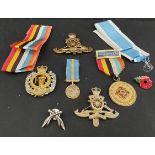Parcel of Military Badges Medal Ribbons & Lapel Badges
