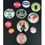 Vintage Pin Badges Includes The Who, Knebworth 1976 Football etc