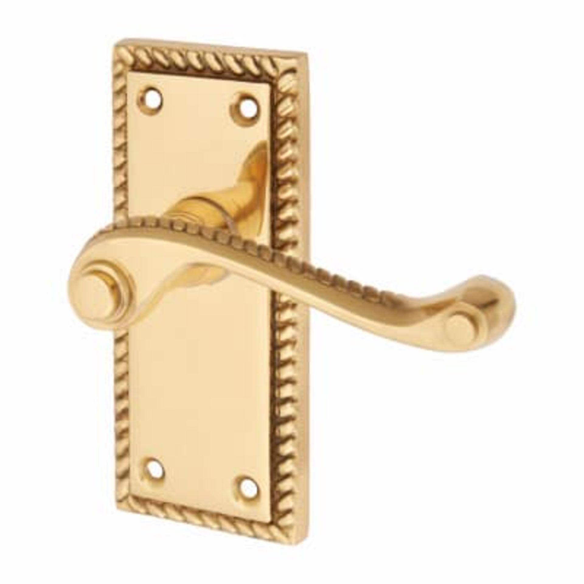 Los 29 - 4 Pairs Georgian Lever Latch Handle Brass