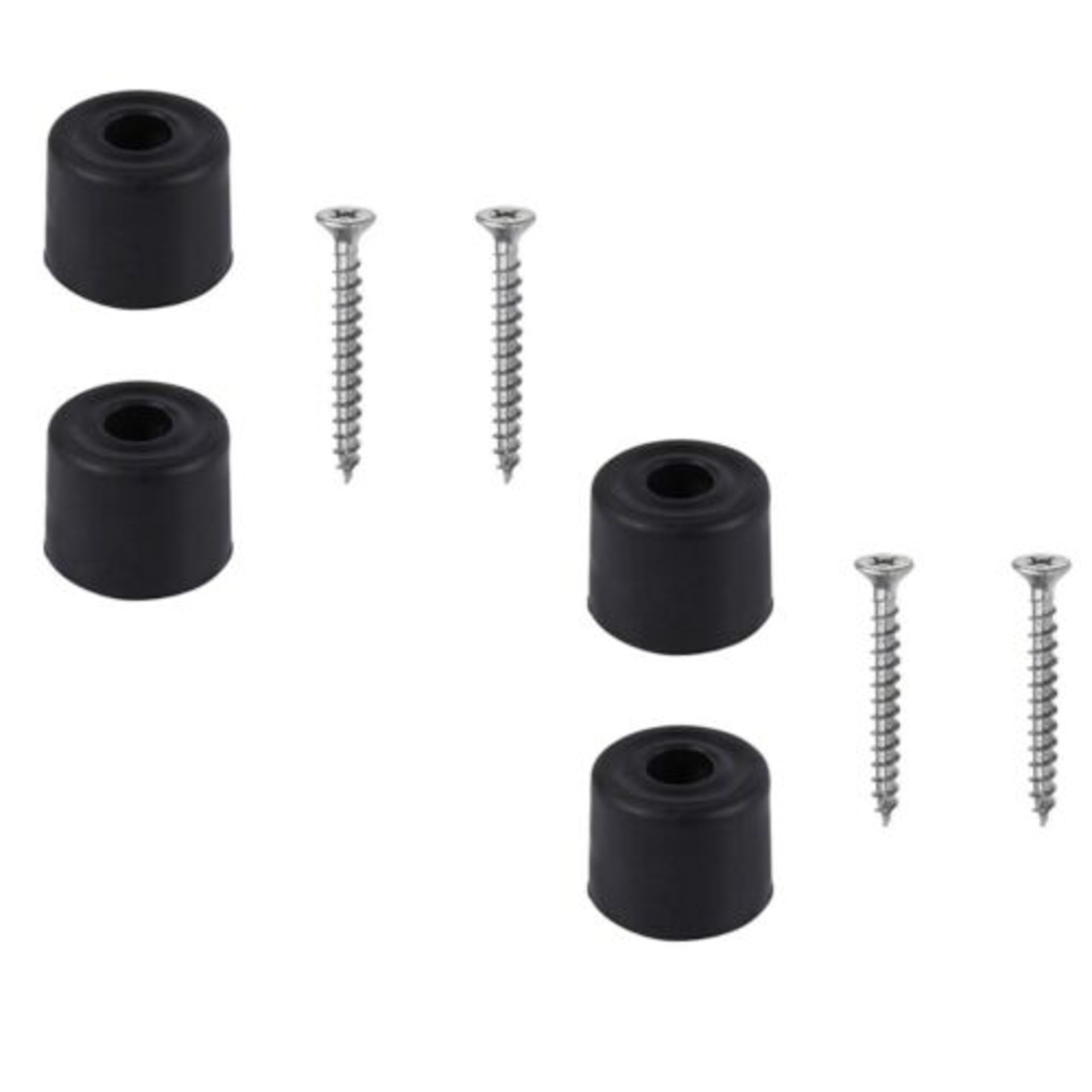 Lot 31 - 20x Door Stops Black Inc. Screws
