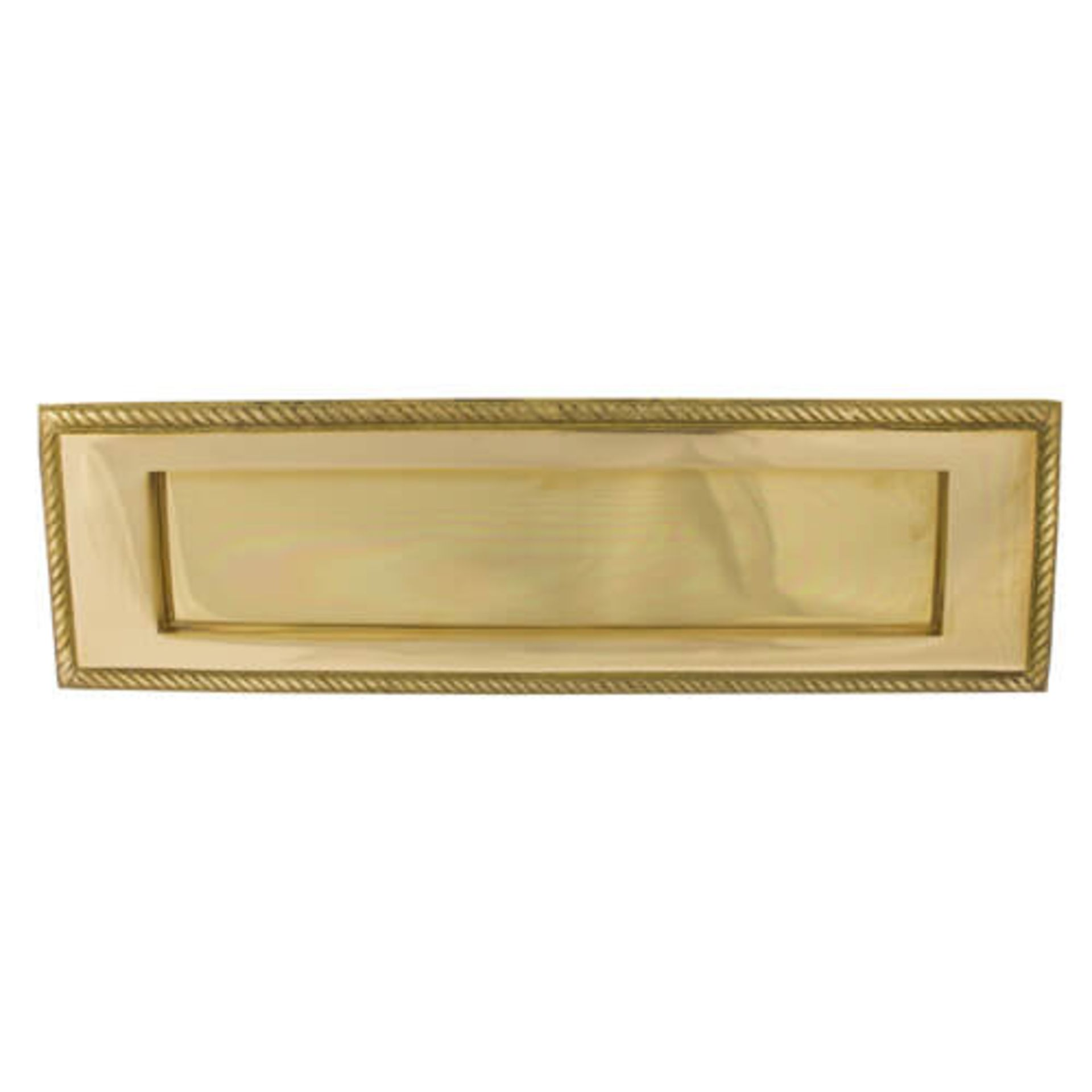 Lot 25 - 3 Georgian Letterplate Brass. 279mmx 84 Mm