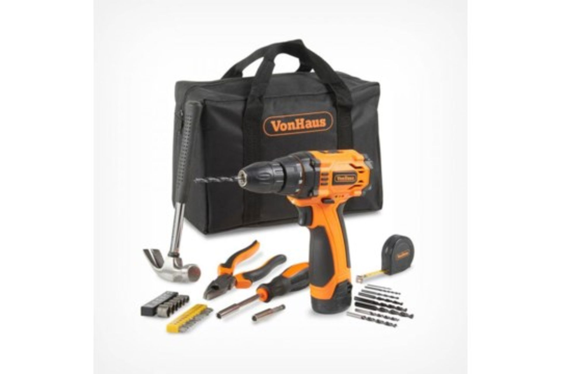 Los 74 - (V330) 12V Drill with Accessory Set Tackle a wide range of DIY projects and home improvements w...