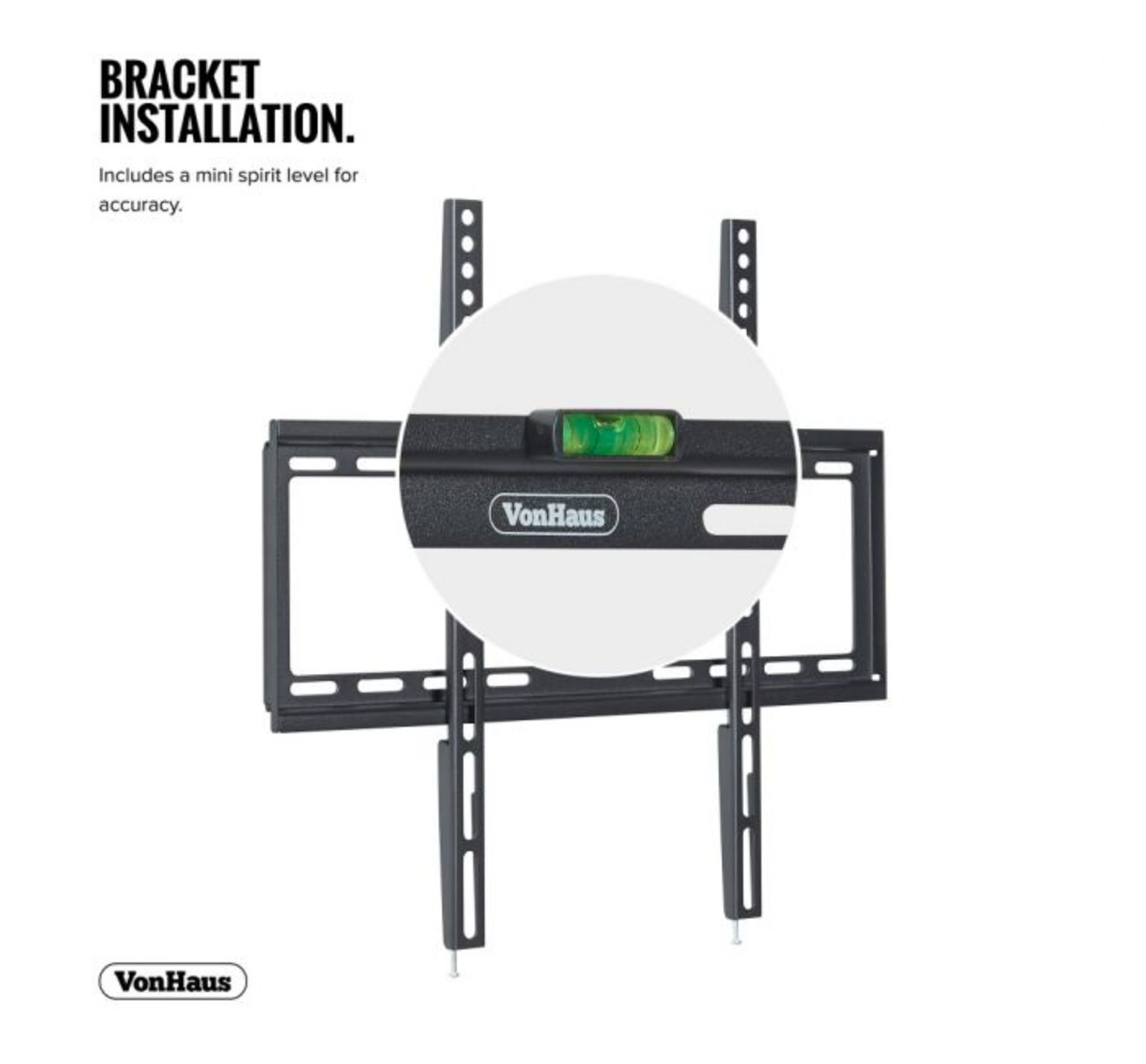 Lot 9 - (D9) 32-55 inch Flat-to-wall TV bracket Please confirm your TV's VESA Mounting Dimensions an...