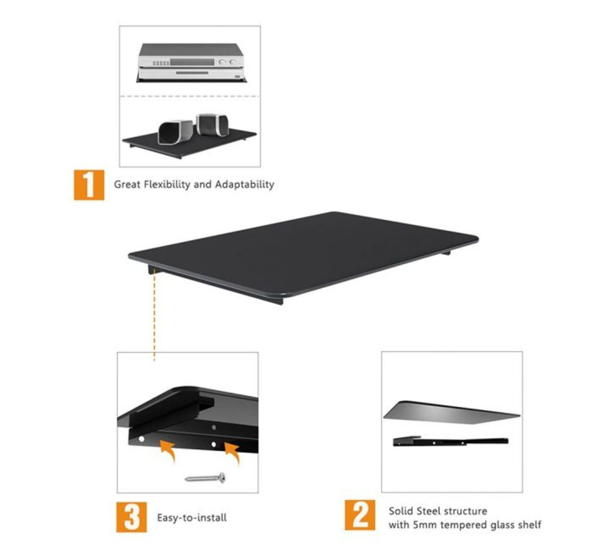 Lot 87 - (X39) 1x Floating Shelf. The perfect wall-mounted storage solution Supports up to 4kg, enough for...