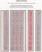 """G.B. - SURFACE PRINTED / BRITISH COLONIAL 1891 Minerva Head essays inscribed """"Thos De La Rue & Co"""
