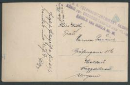 Austria c. 1915 Picture Post Card with the unusual unit cachet