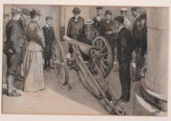 Boer War 1900 Pen & Ink wash sketch by Henry Marriot Paget, (1856-1936)