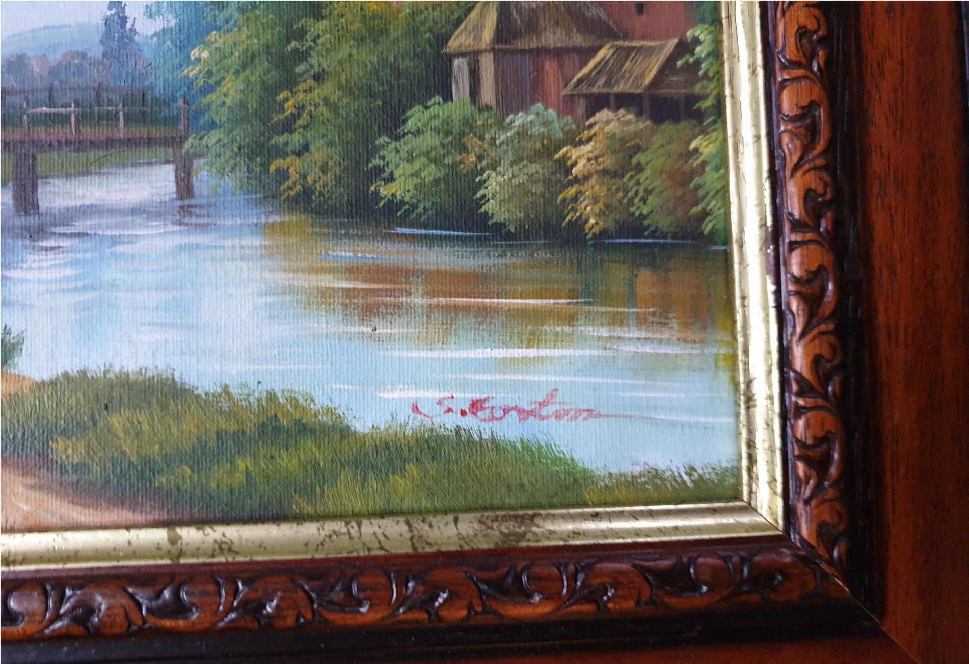 Art 2 x Oil Paintings Country Scenes Both signed - Image 5 of 6