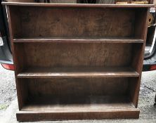 Antique Furniture Vintage Early 20th Century Hardwood Bookcase 3 foot 6 inches tall