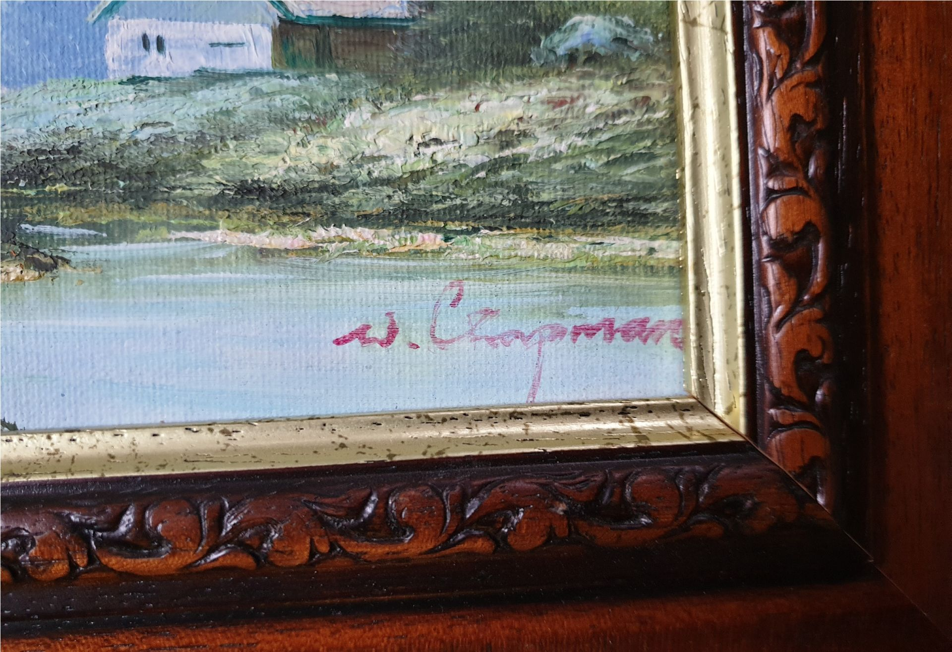 Art 2 x Oil Paintings Country Scenes Both signed - Image 3 of 6