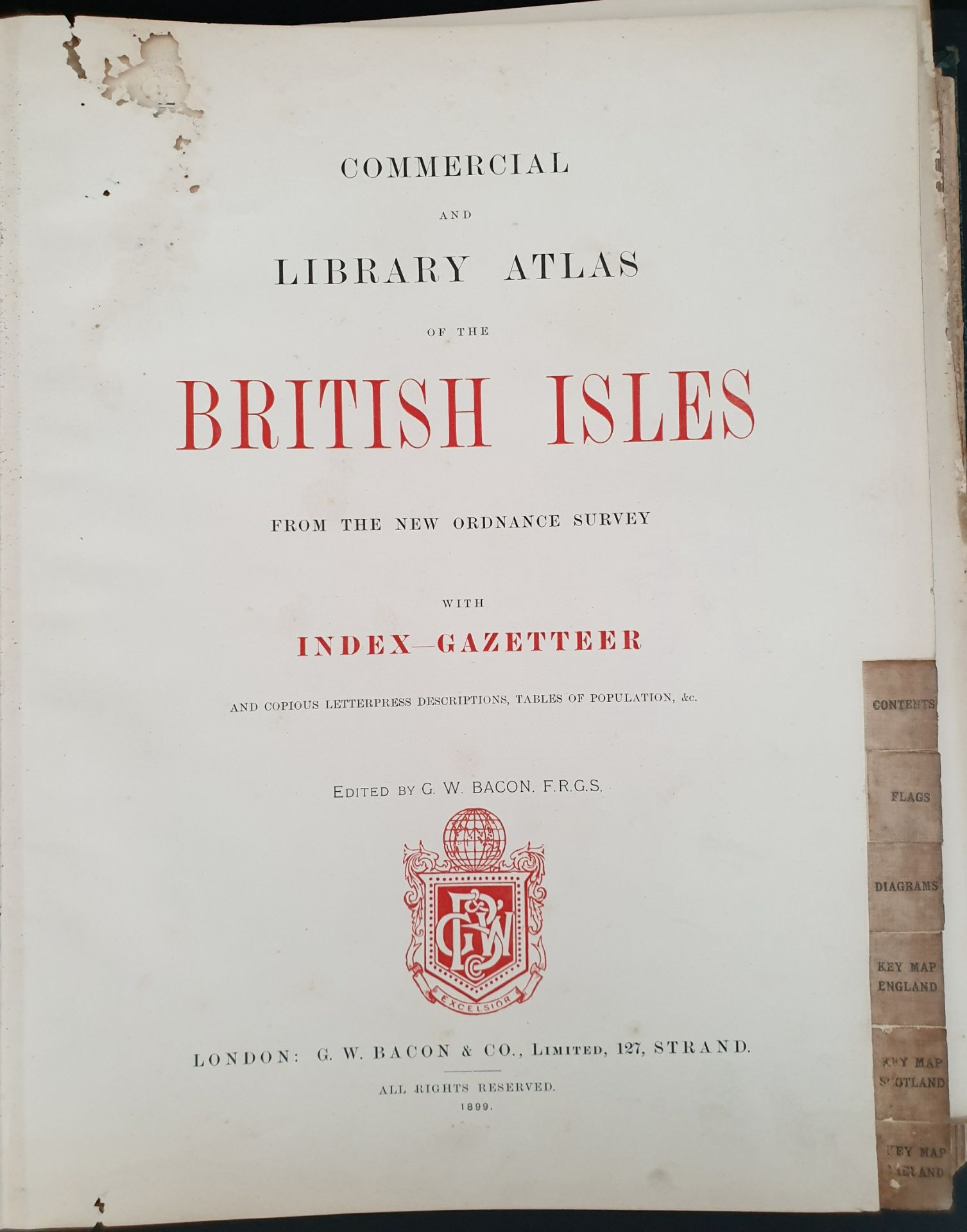 Antiques 1899 Book Atlas Of The British Isles G W Bacon & Co. - Image 5 of 15