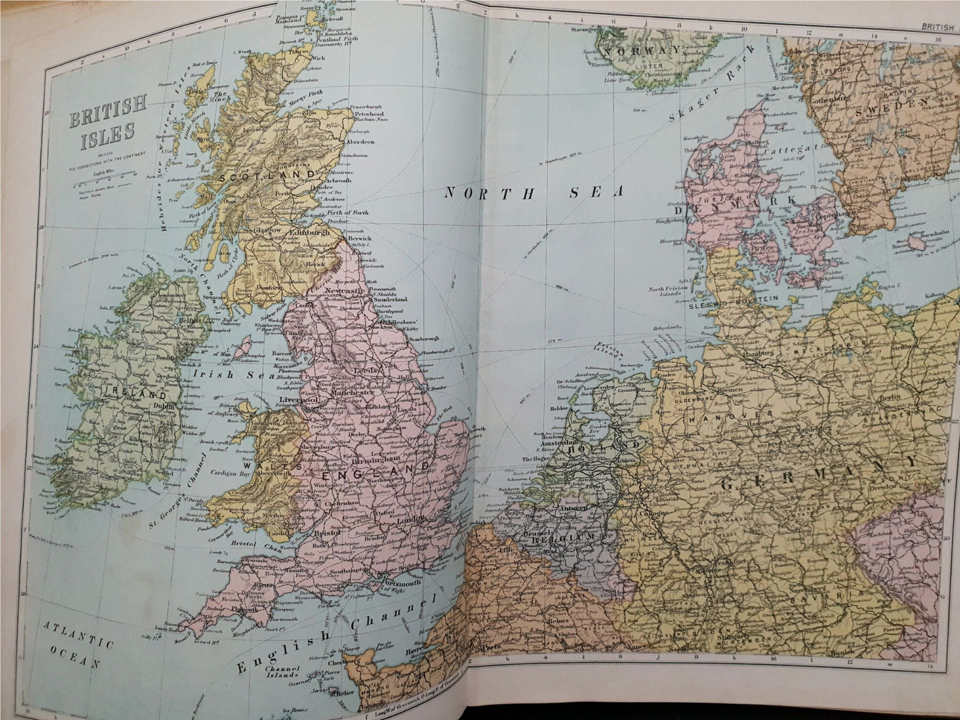Antiques 1899 Book Atlas Of The British Isles G W Bacon & Co. - Image 8 of 15