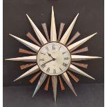 Vintage Metamec Sunburst Wall Clock