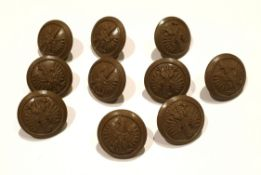 WWII Military 10 Free Polish Economy Issue Army Buttons 17.5mm