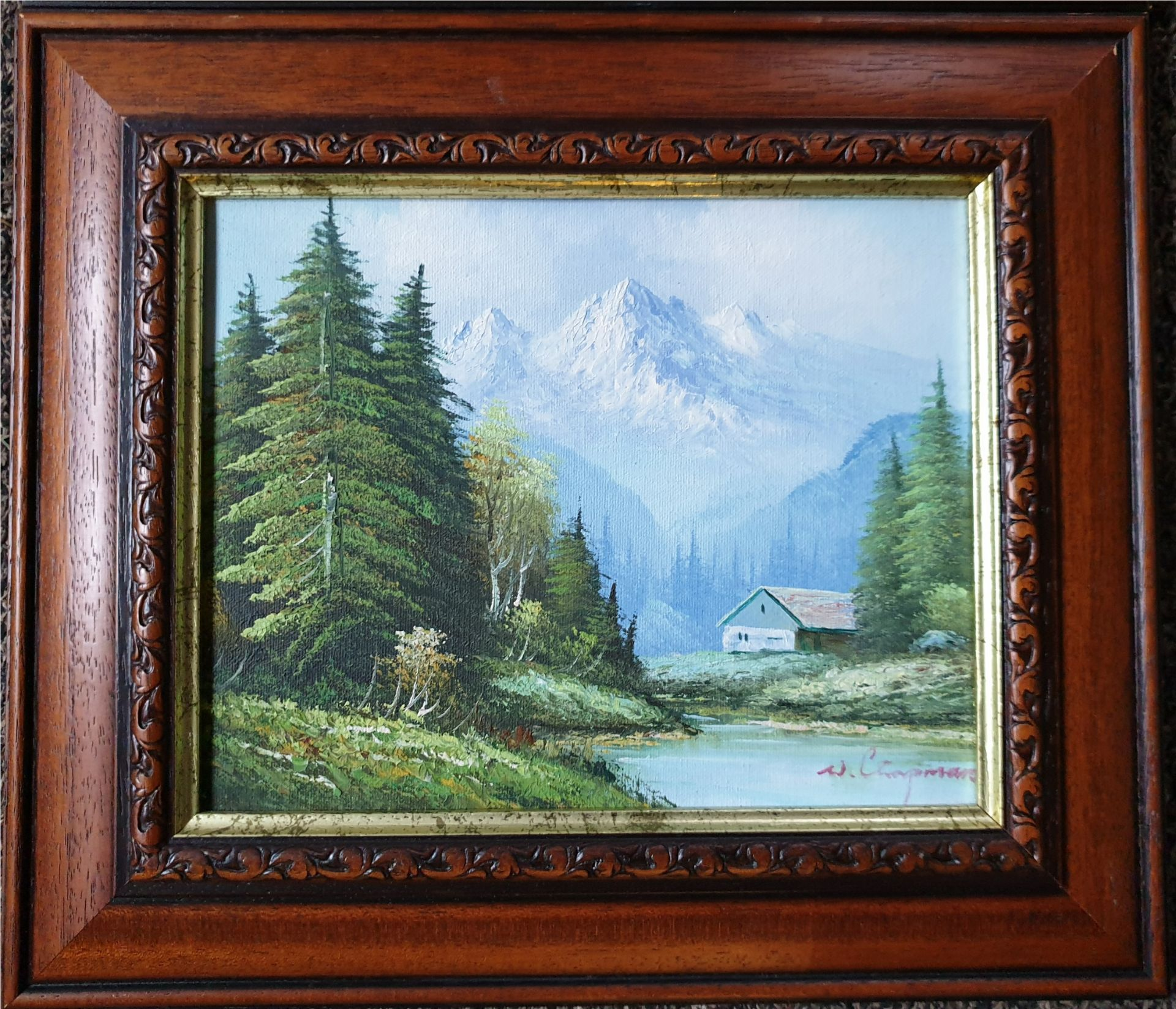 Art 2 x Oil Paintings Country Scenes Both signed - Image 2 of 6