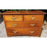 Antique Furniture Set of Hard Wood Drawers 2 Over 2