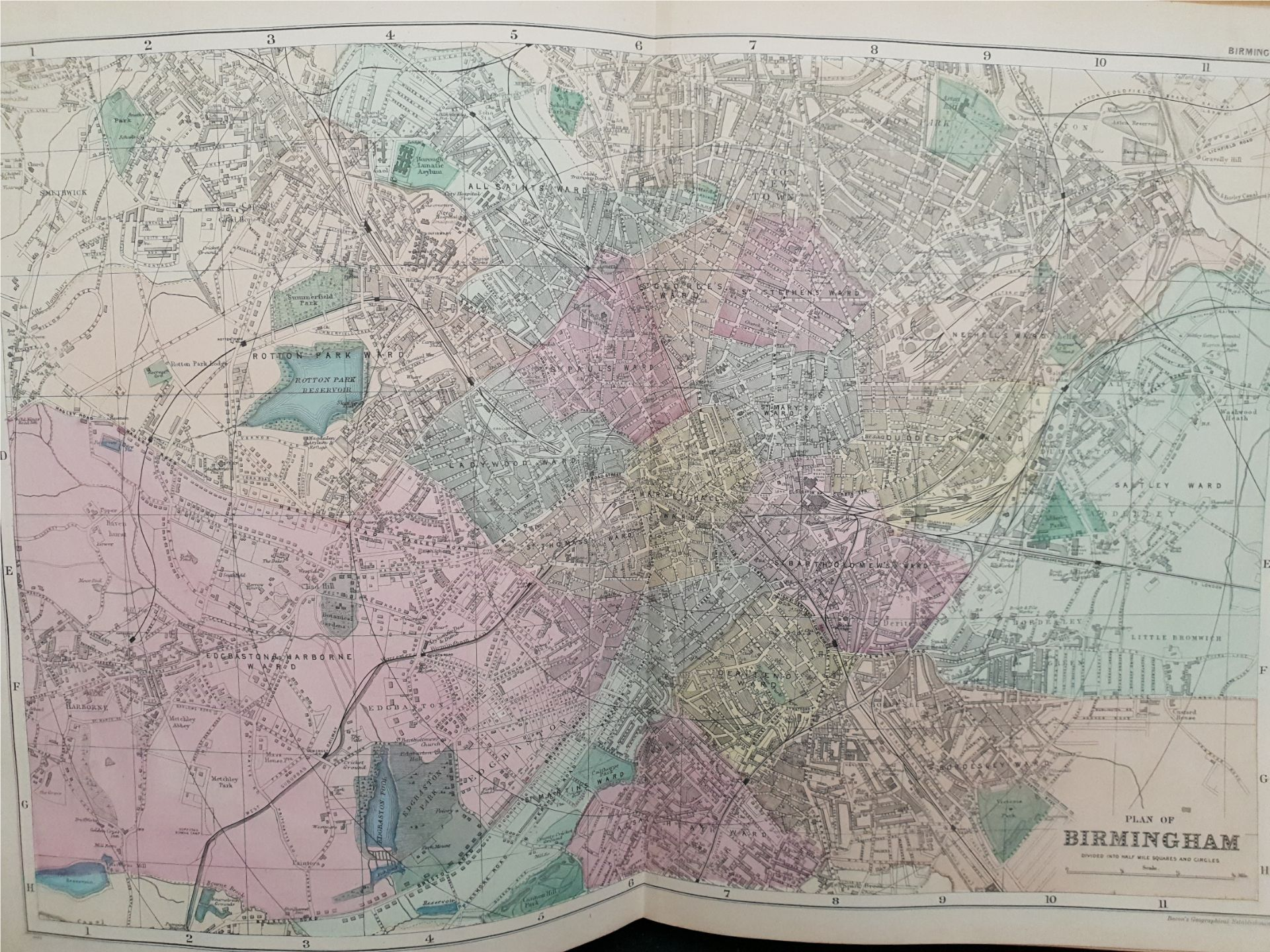 Antiques 1899 Book Atlas Of The British Isles G W Bacon & Co. - Image 10 of 15