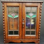 Art Nouveau Hardwood Smokers Cabinet & Contents