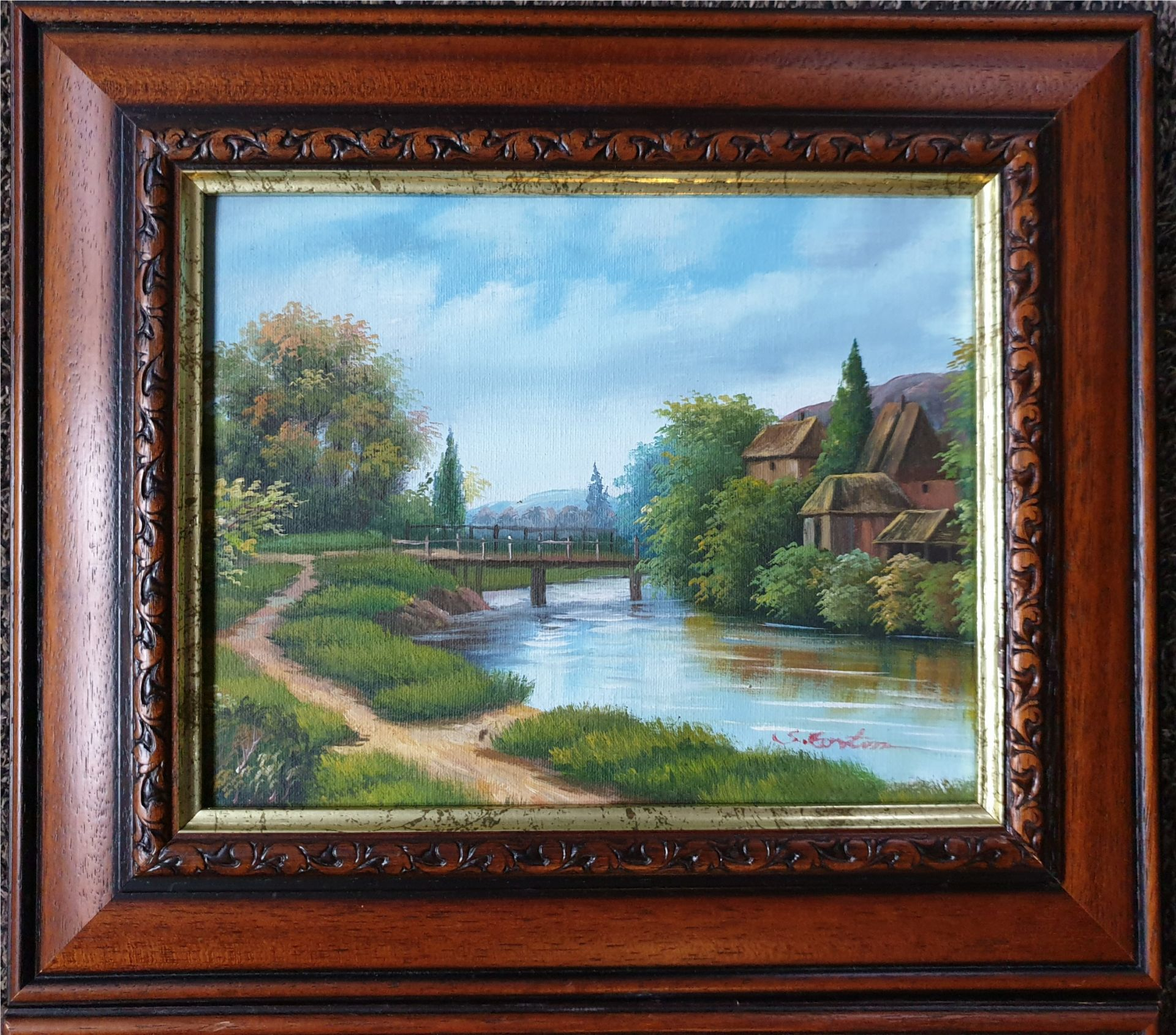 Art 2 x Oil Paintings Country Scenes Both signed - Image 4 of 6