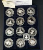 Collectable 13 x Silver Coins H.M. The Queen Mother Royal Mint