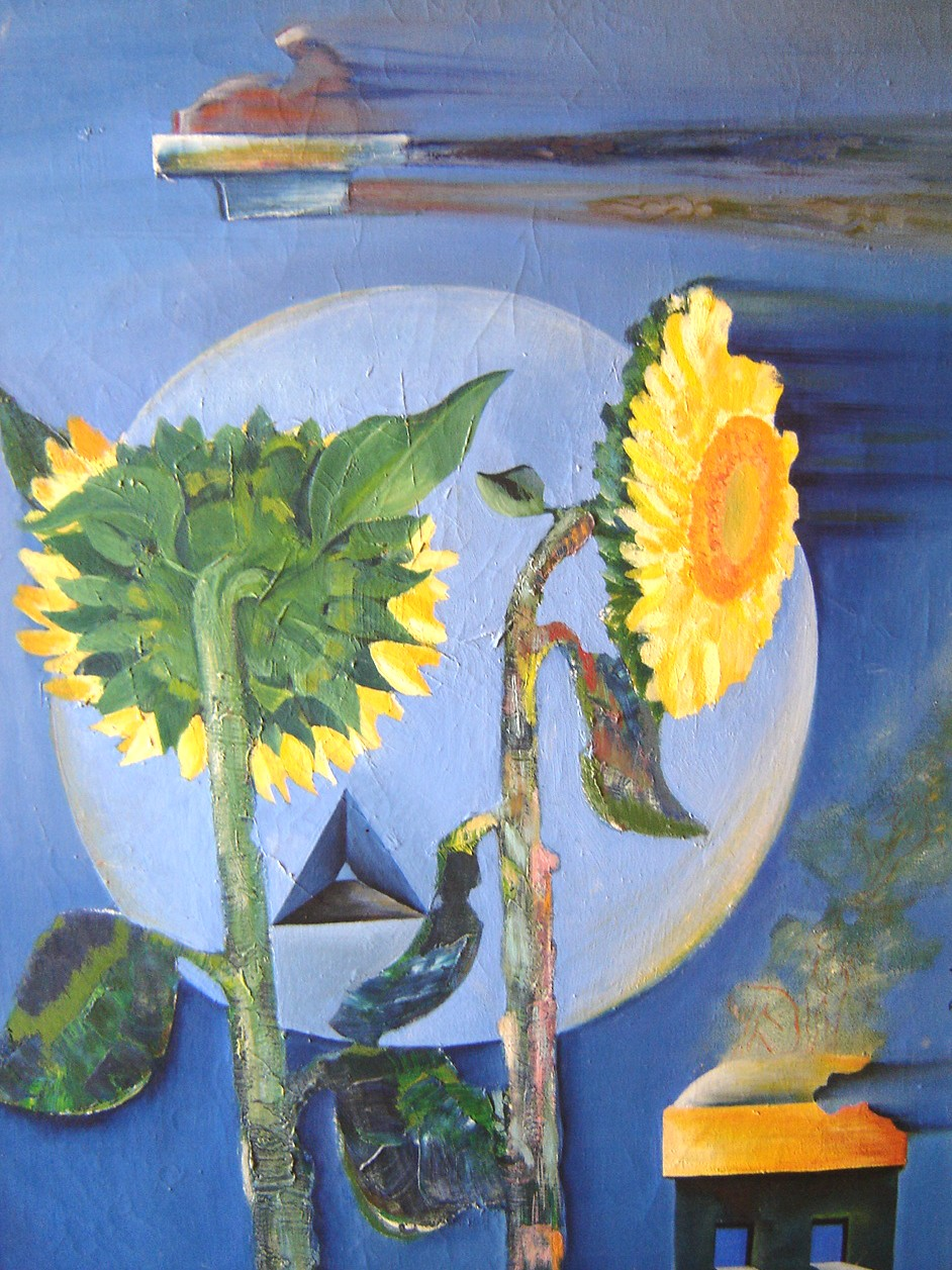 Lot 27 - Large Surrealist Oil On Canvas