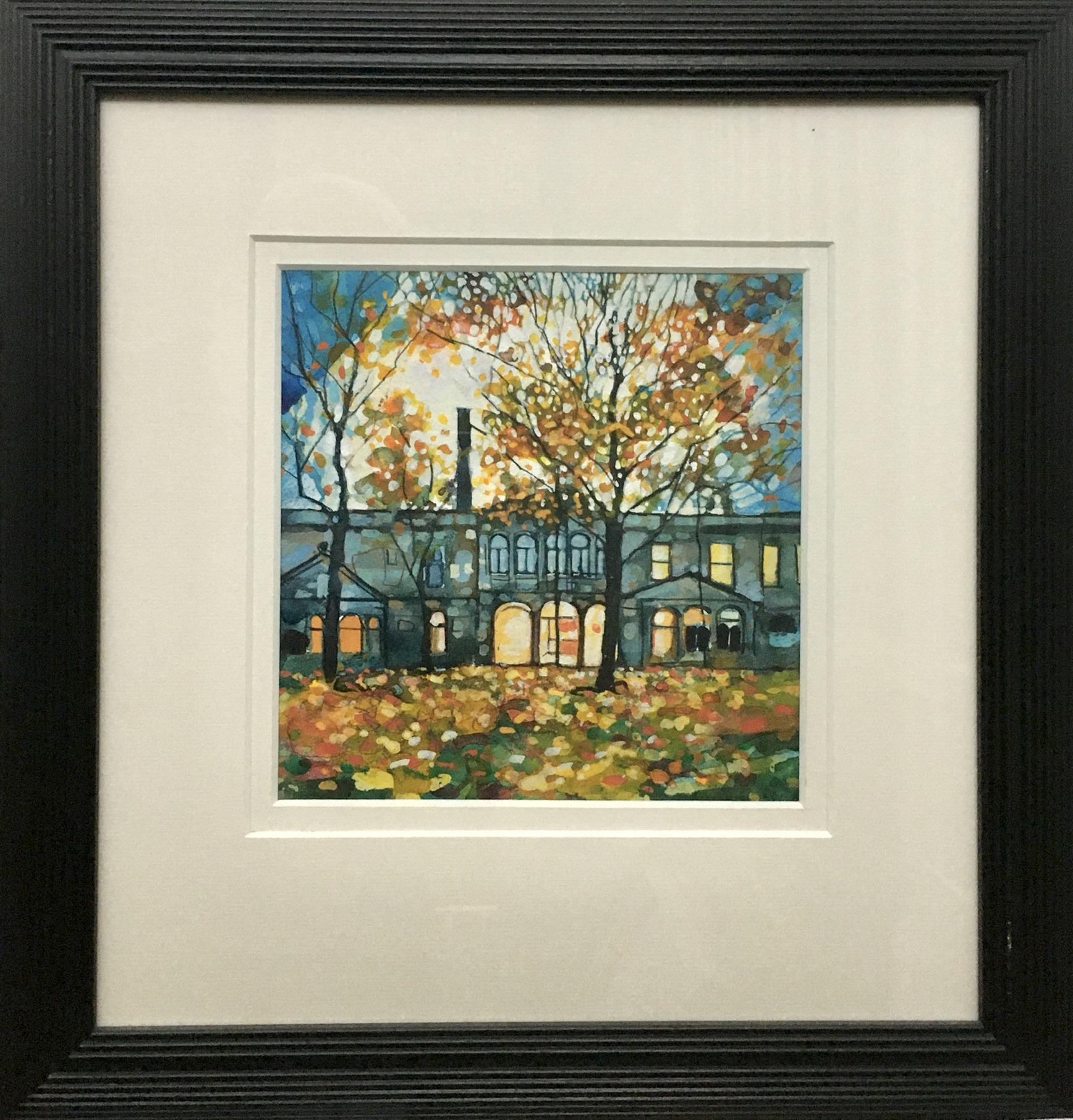 Lot 4 - Bryan Evans. Autumn At The Arlington Baths. Signed Watercolour Painting