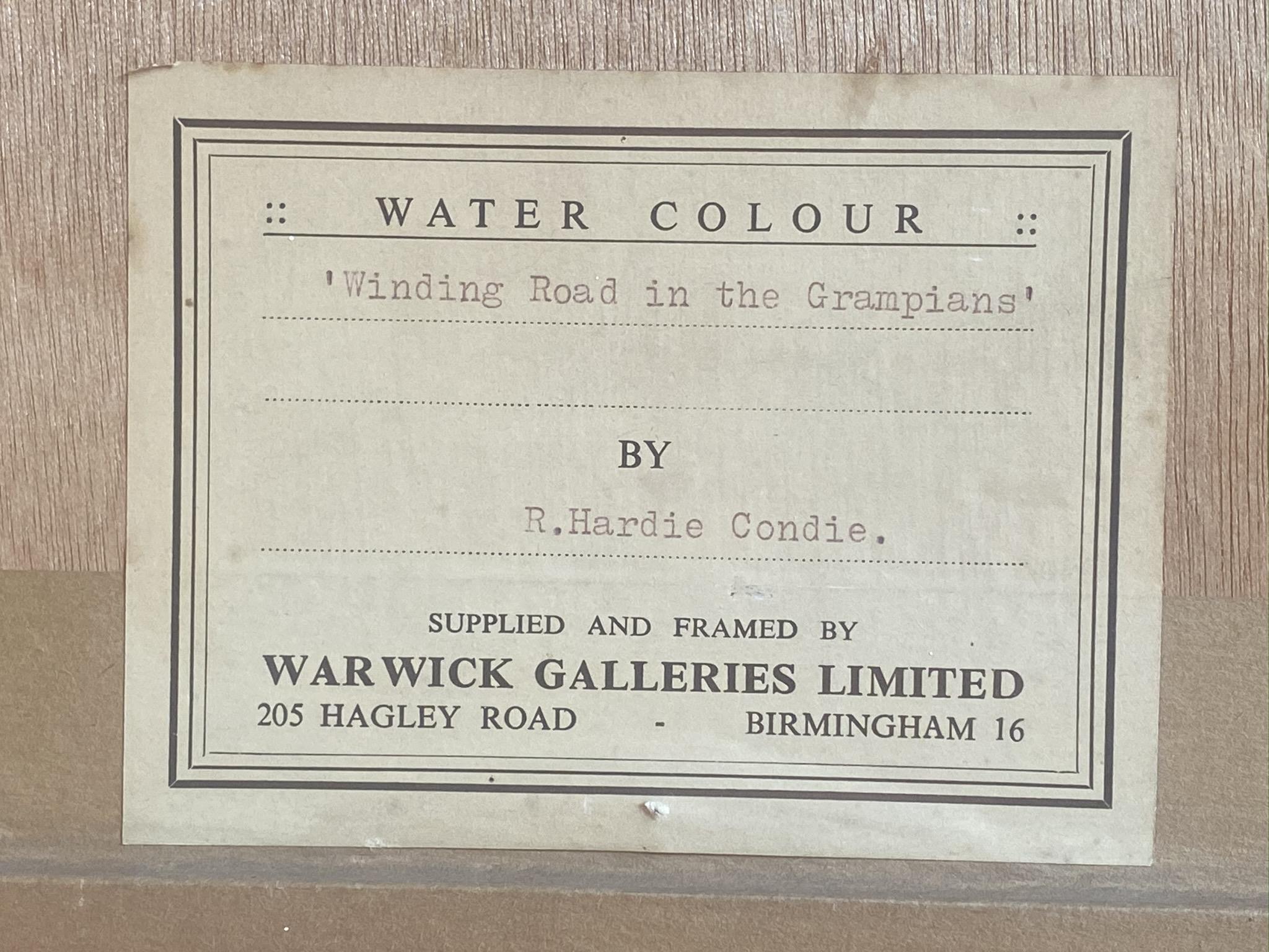 "Lot 38 - Robert Hardie Condie RSW 1898 – 1981 signed watercolour Winding Road in the Grampians"""